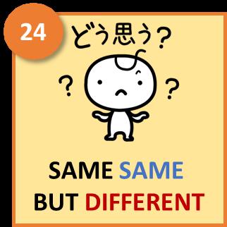 Same same but different 24