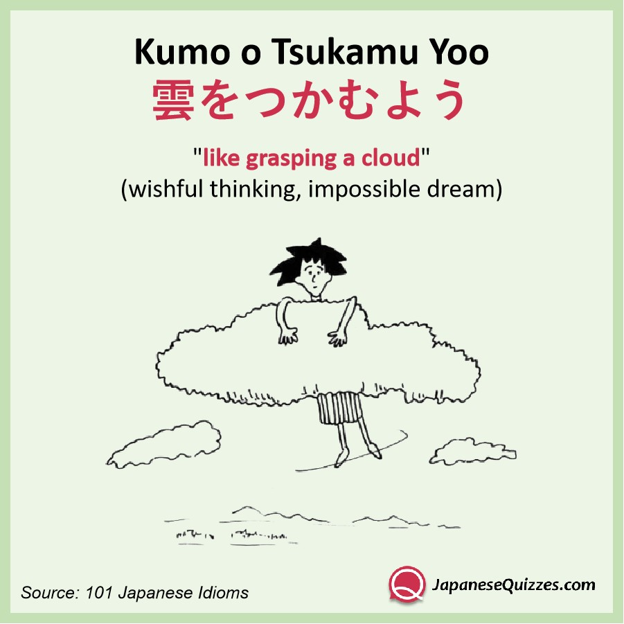 Kumo O Tsukamu Yoo Japanese Quizzes